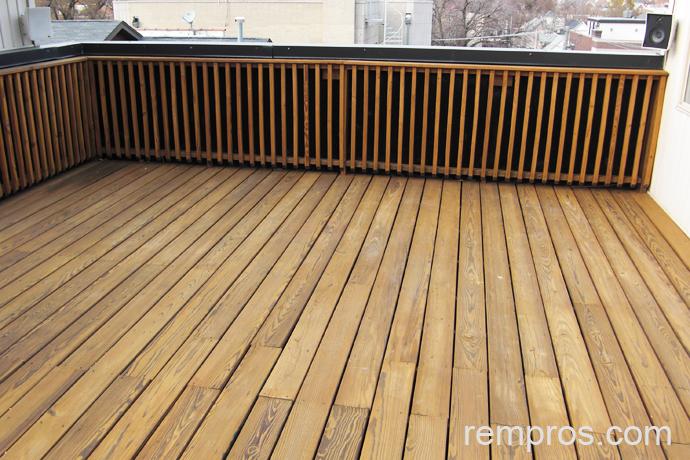 Standard Pressure Treated Wood Rooftop Deck
