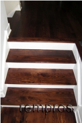 solid hardwood steps