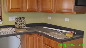 how to tile backsplash step 1