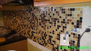 how to tile backsplash step 5