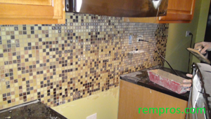 how to tile backsplash step 6